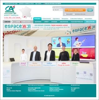 Agence Crédit Agricole 31 / Pinkanova