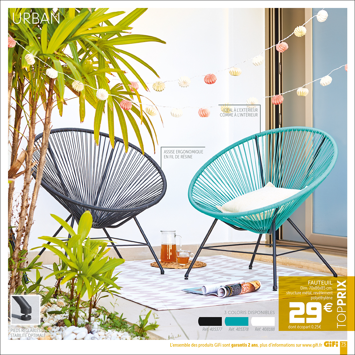 Beautiful Table Jardin Couleur Gifi Gallery - House Design ...